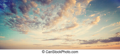 여름, 구름, 하늘
