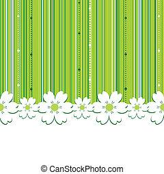 여름, 녹색의 배경