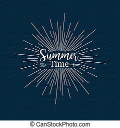 여름, 디자인, 시간
