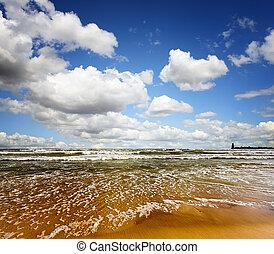 여름, 바다