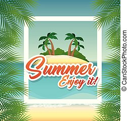 여름, 바닷가, 디자인