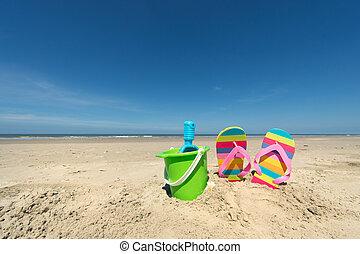 여름, 바닷가
