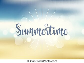 여름, 배경, 주제