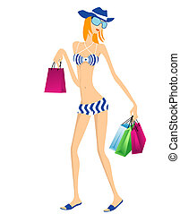 여름, 쇼핑