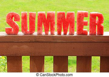 여름, 수박