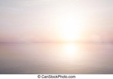 여름, 예술, 바다, 빛, 떼어내다, 배경