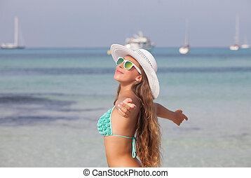 여름, 자유, 휴일, 에서, mallorca, 스페인