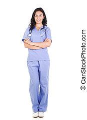 여성, 건강관리 직원