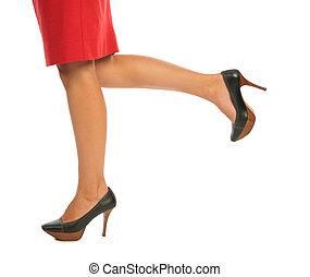 여성, 다리
