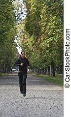여성 달리기