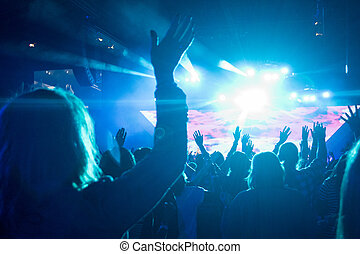 여성, 에, 바위 음악회