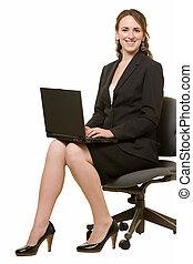 여자, 계속해서 움직이는 것, 휴대용 퍼스널 컴퓨터