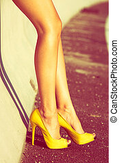 여자, 긴 다리