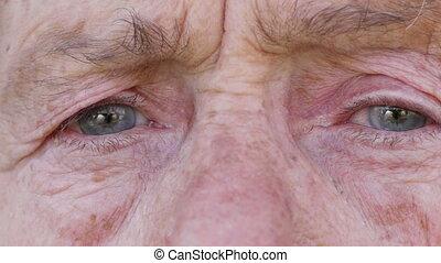 여자, 늙은, 얼굴