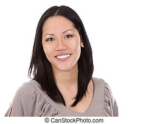 여자, 무심결의, 아시아 사람