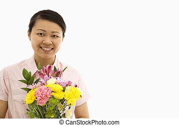 여자 보유, flowers.