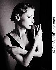 여자, 스튜디오, 아름다움, 블론드인 사람