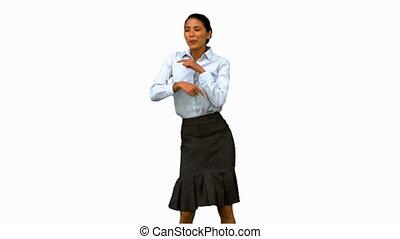 여자 실업가, 조금, 디스코 춤