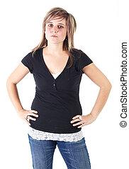 여자, 십대 후반의 청소년