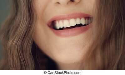 여자, 이, 건강, 미소, 완전한, 건강한, 백색, 아름다움, 아름다운, 나이 적은 편의, toothy