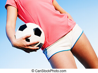 여자, 축구, 나이 적은 편의, 노는 것