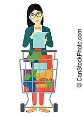 여자, list., 쇼핑
