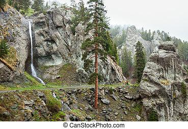 여행, 자전거 타는 사람, 에서, pontic, 알프스 산맥