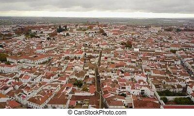 역사적이다, evora, 와, 로마 수도교, 와..., 거대한, 대성당, alentejo, 포르투갈
