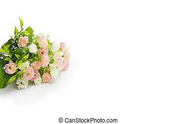 연인 날, 배경, 와, 핑크, roses.