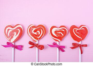 연인 날, 사탕, 행복하다