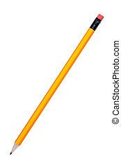 연필, 백색, 고립된