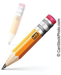 연필, 삽화