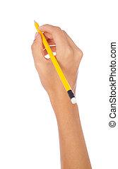 연필, 손을 잡는 것