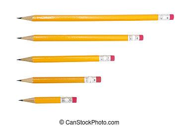 연필, 짧다