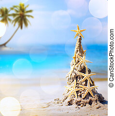 열대적인, 휴일, 예술, 크리스마스