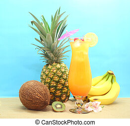 열대 과일, 마실 것