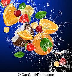 열대 근해, 튀김, 과일