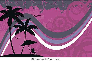 열대 바닷가, wallpaper1, hawaiian