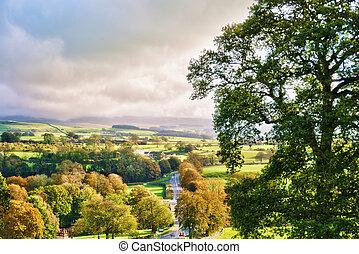영국 시골, 에서, 가을