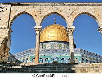 예루살렘, rock., israel., 돔