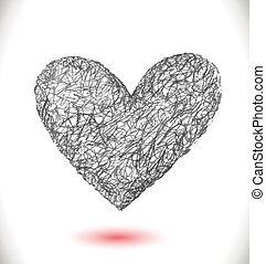 예술, 벡터, 심장