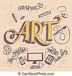 예술, hand-lettering, 카드