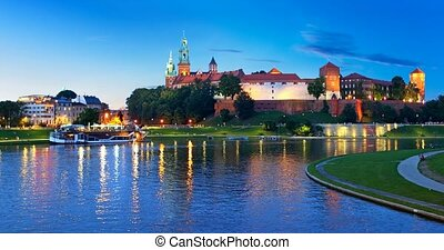 오래 되는 도시, 건축술, 에서, krakow, 폴란드
