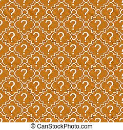오렌지와 백색, 물음표, 상징, 패턴, 반복, 배경