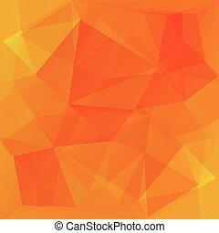 오렌지와 빨강, 벡터, 배경, 에서, 삼각형