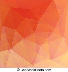 오렌지, 벡터, 떼어내다, 배경, 에서, 삼각형