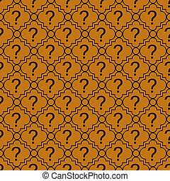 오렌지, 와..., 검정, 물음표, 상징, 패턴, 반복, 배경