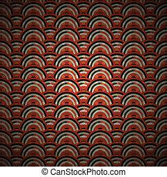 오렌지 원형, 패턴