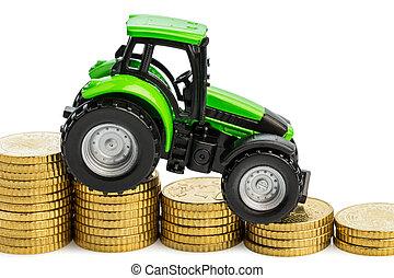 오르는 비용, 에서, 농업
