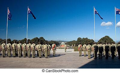 오스트레일리아 사람, 군인